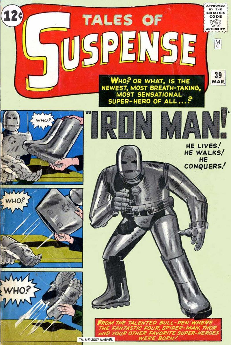 iron man made his first appearance in tales of suspense 39 march 1963 box office milestone 39iron