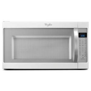 Whirlpool 2 0 Cu Ft Over The Range Microwave In White Ice With Sensor Cooking Range Microwave Microwave Microwave Hood