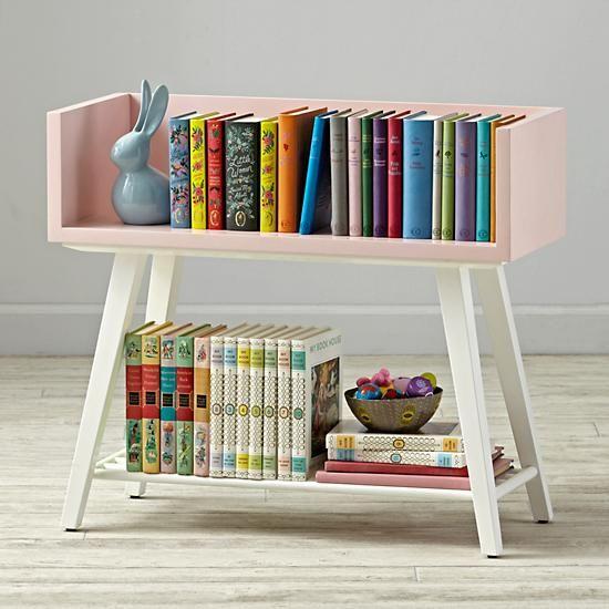Alto Bookcase Pink White The Land Of Nod Bookshelves Kids