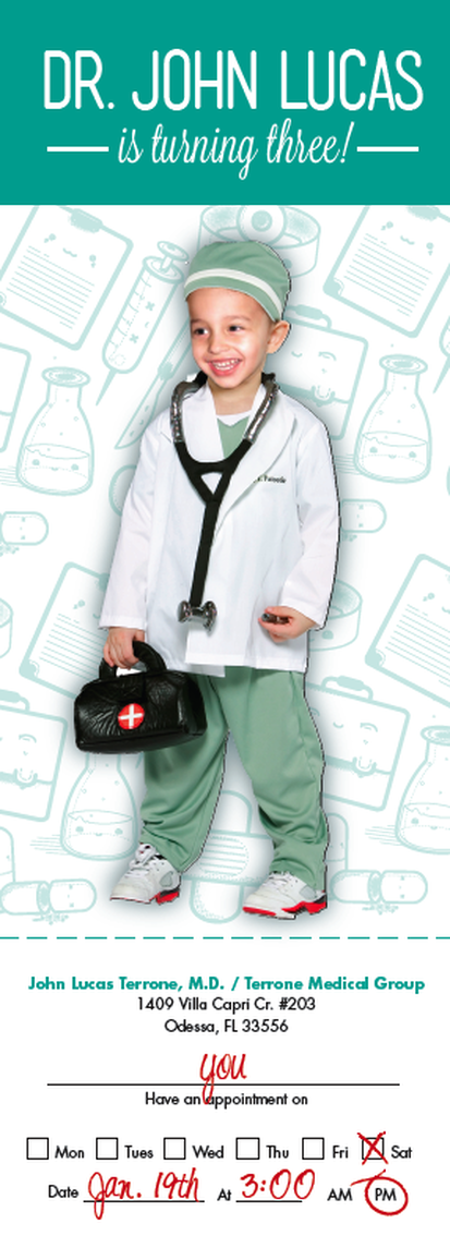 Doctor themed birthday invitation for toddlers Super cute