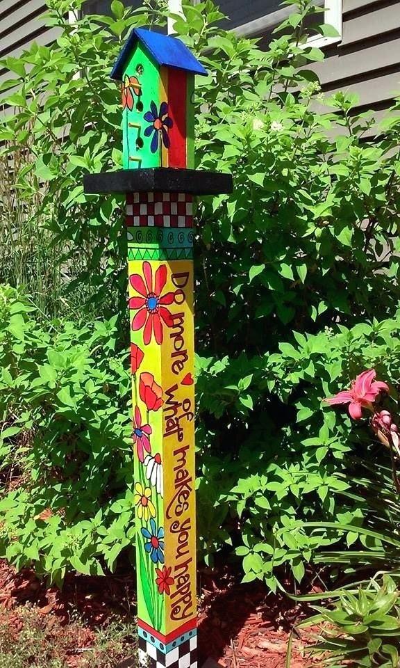 Healing Garden Art Pole How To Make Garden Art Pole 25 Colorful ...