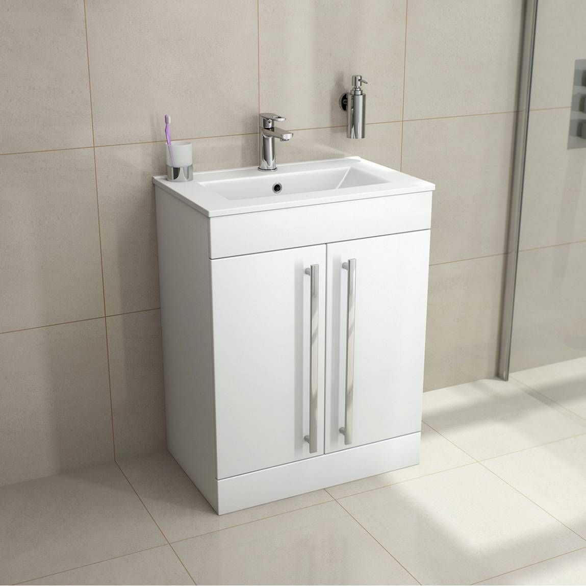 Bathroom Accessories Victoria Plumb odessa+white+floor+mounted+600+door+unit+&+basin | shuva