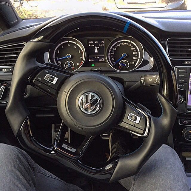 Custom Steering Wheel To Vw Golf R Check Out Our Website Click