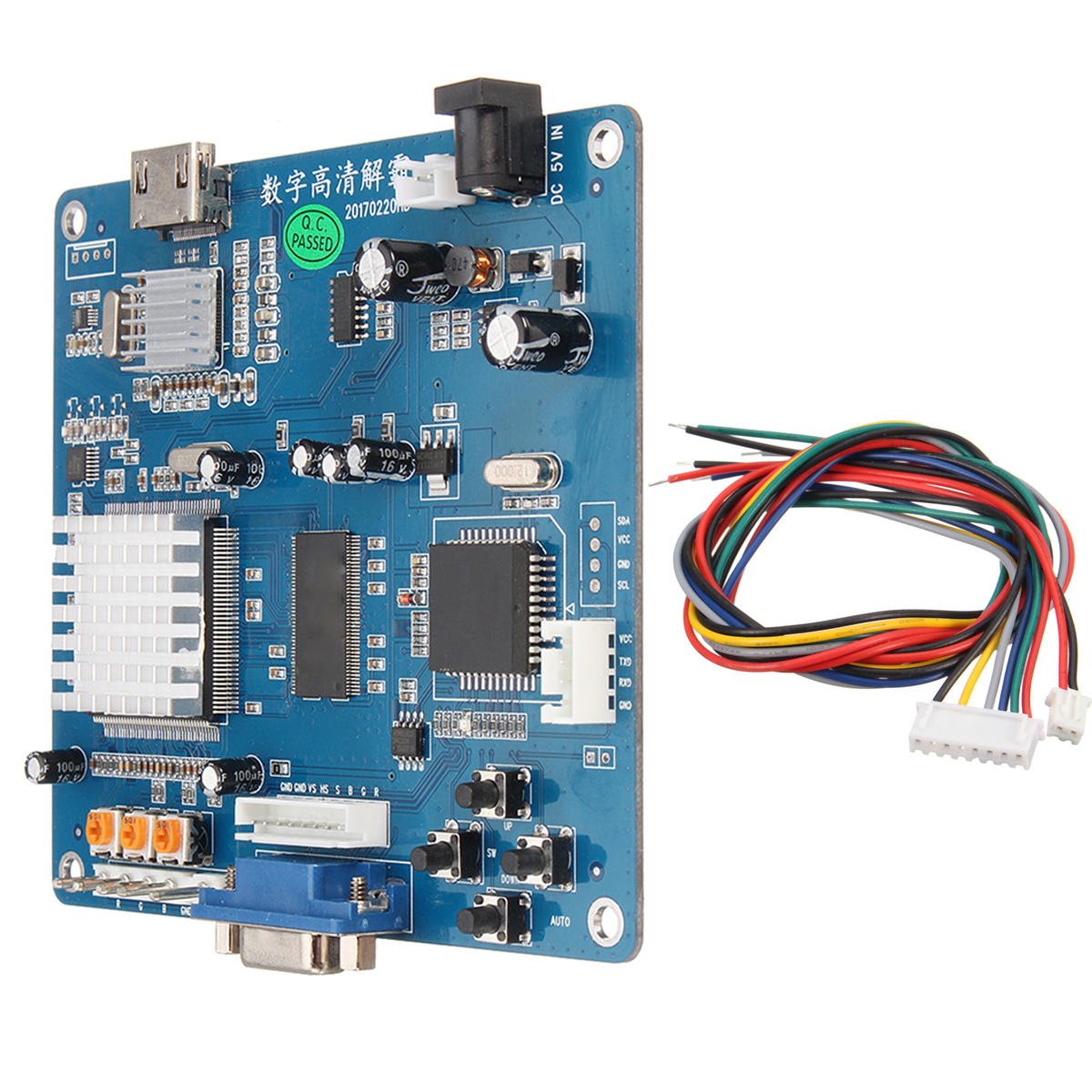 VGA/RGB/CGA/EGA/YUV to HD Arcade Game Video Output Converter