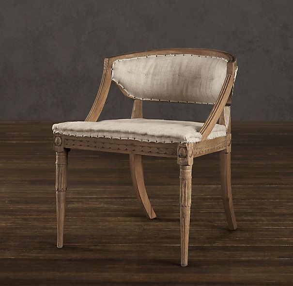 Swedish Demi Lune Chair | Fabric Arm U0026 Side Chairs | Restoration Hardware..  Dining ...