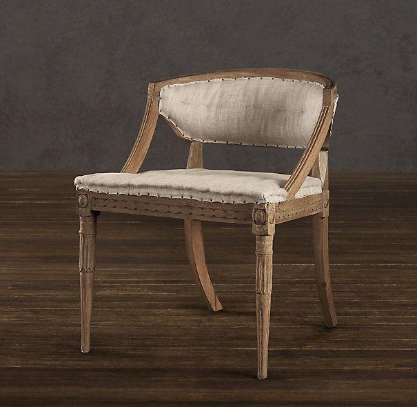 Restoration Hardware Dining Room Chairs: Swedish Demi-Lune Chair
