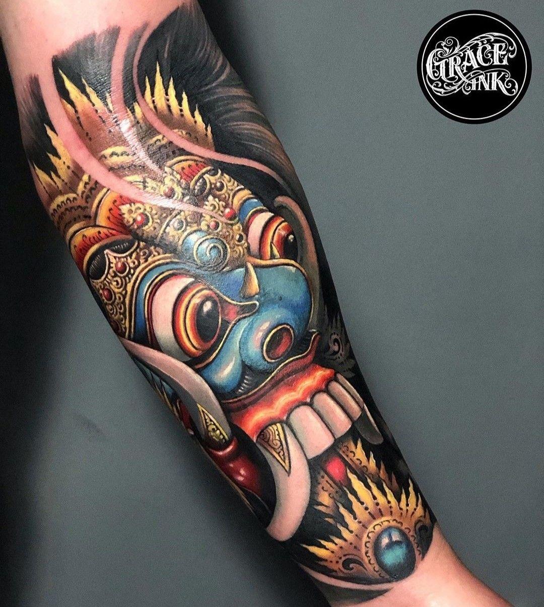 Rangda Tattoo Gambar Tato Tato Tato Keren