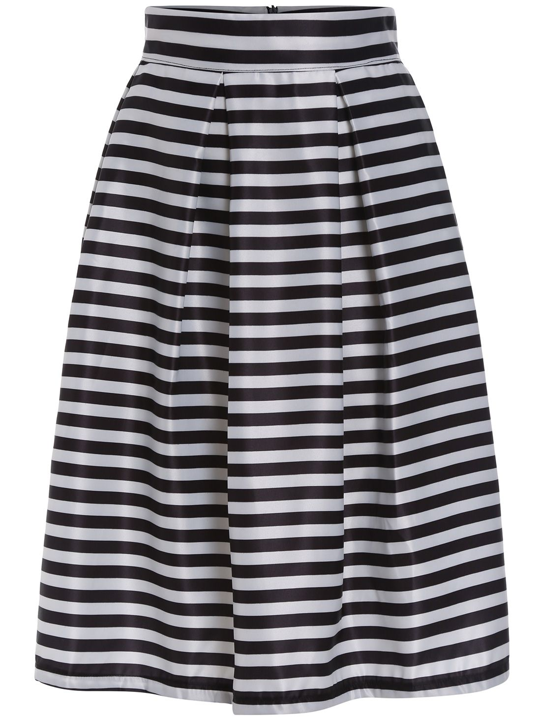 00f052c66 Shop Black White High Waist Striped Flare Skirt online. SheIn offers Black  White High Waist Striped Flare Skirt & more to fit your fashionable needs.