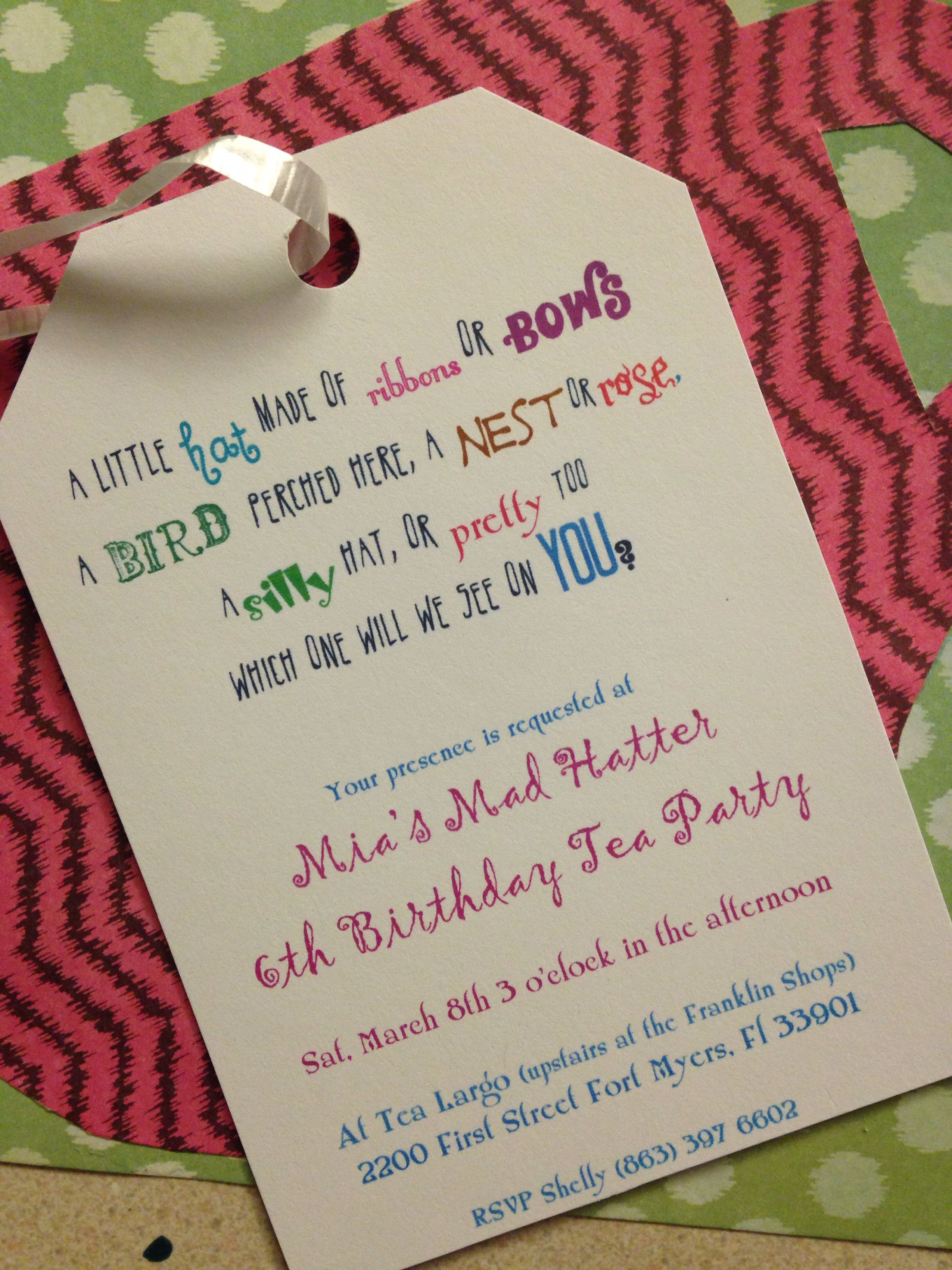 Unbirthday Party Invite Unbirthday Party Invitations Party