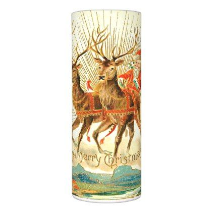 Merry Christmas Party Santa Claus Reindeer Flameless Candle