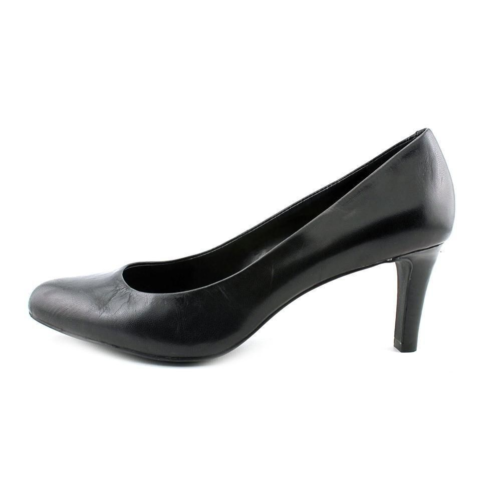 f9a68ab6981a New Women s Ralph Lauren Harper High Heels Shoes Pumps Black Leather 6 B M   fashion