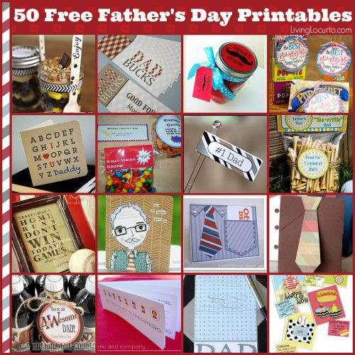 50 father 39 s day free printables free printables 50th for Diy last minute birthday gifts for dad