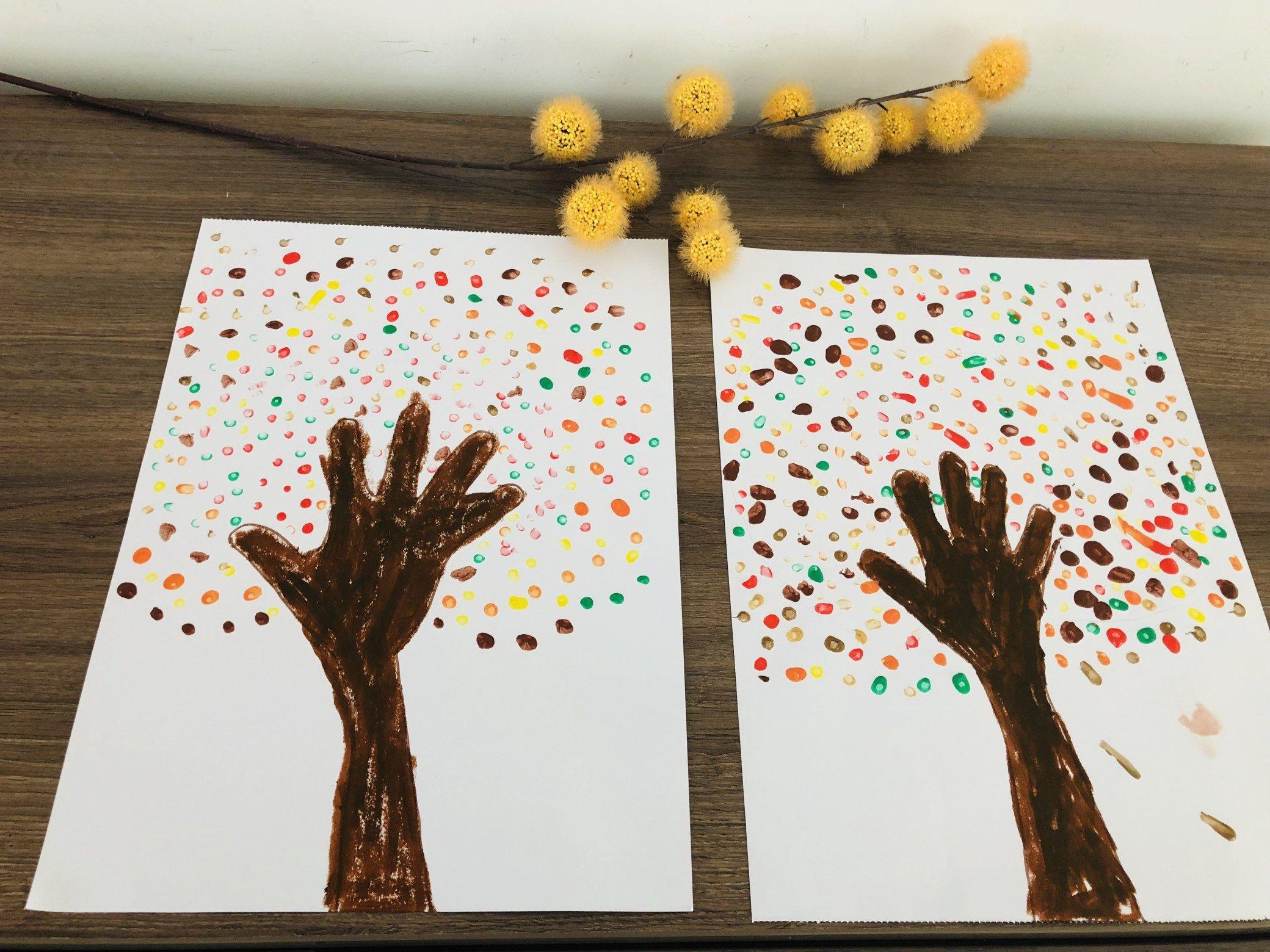 Quatang Gallery- Herfstboom Knutselen Herfst Thema Peuters Herfstactiviteit Knutsel Ideeen 4 Herfst Knutselen Herfst Knutselen Kinderen Herfst Bomen