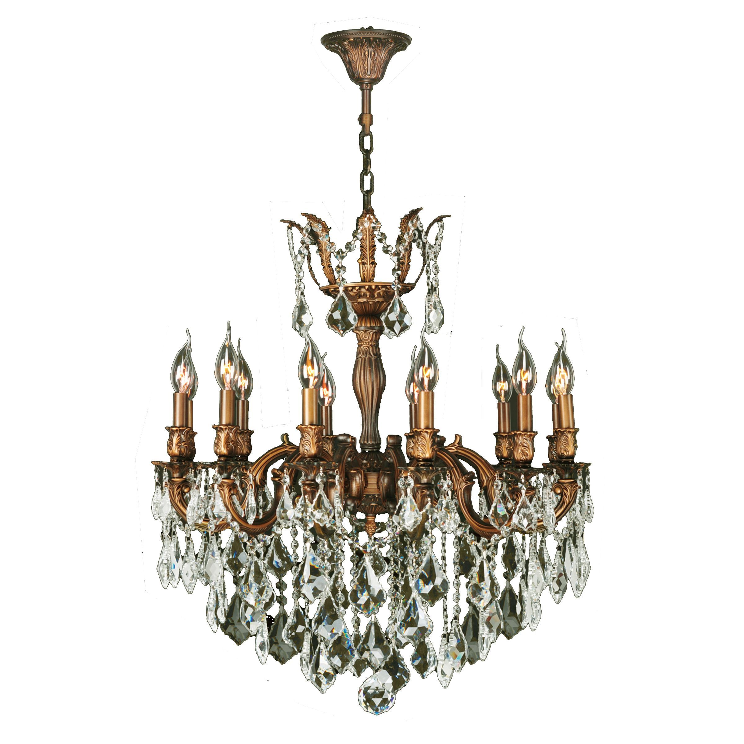 French imperial collection 12 light french gold finish and clear french imperial collection 12 light french gold finish and clear crystal traditional chandelier large x lights chandelier arubaitofo Gallery