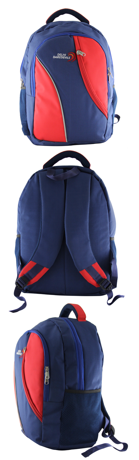 Backpack exclusively manufactured for Delhi Daredevils by Crea - India's smartest brand merchandising company.