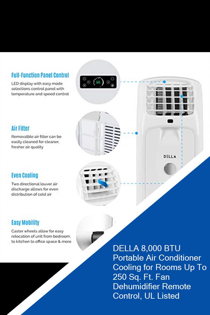 DELLA 8,000 BTU Portable Air Conditioner Cooling for Rooms