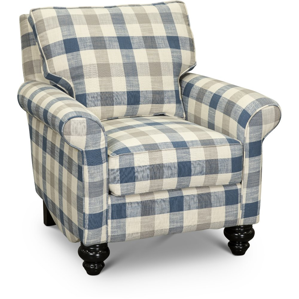 Blue And Taupe Plaid Nautical Accent Chair Blake Rc Willey Furniture Store In 2020 Nautical Accents Stylish Accent Chairs Accent Chairs #plaid #chairs #for #living #room