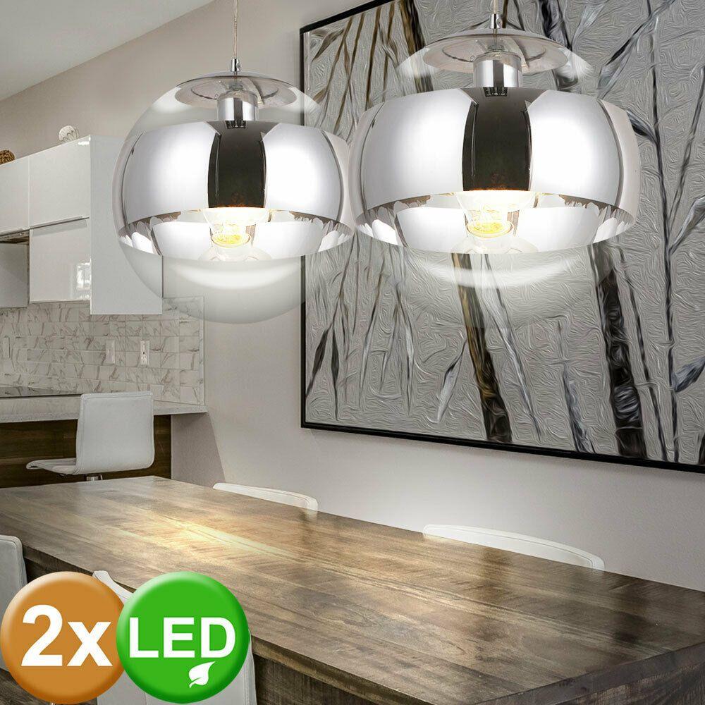 RGB LED Hänge Leuchte dimmbar Fernbedienung Wohnraum Entenfeder Big Light