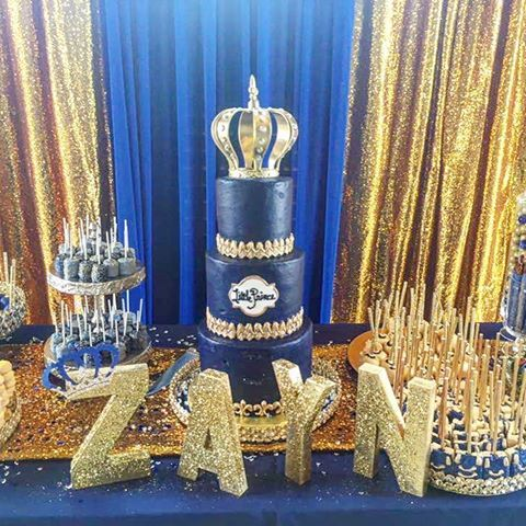 Elegant This Baby Shower Was Gold, And It Glittered #royalprince #ontheway # Babyshower #