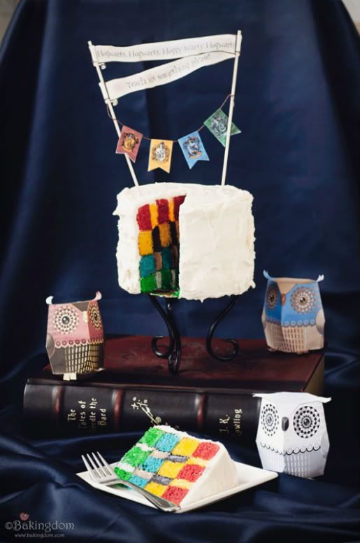 Hogwarts inspired checkered cake