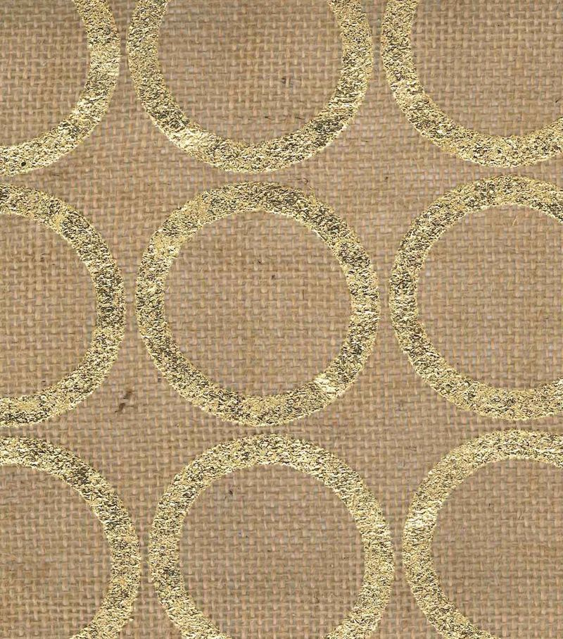 Utility Fabric- Burlap Large. Circle Foil Gold. Another bedroom curtain choice /via Joann Fabrics