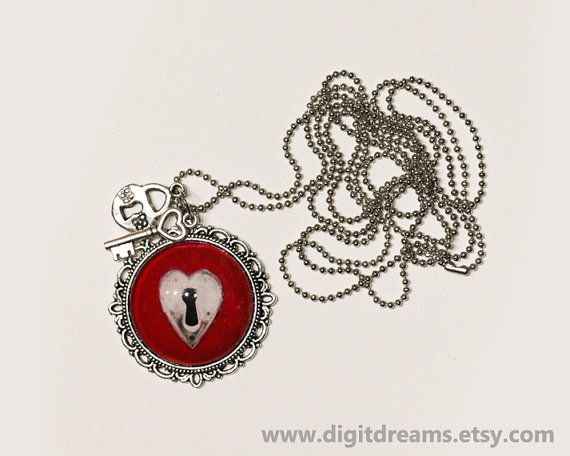 Red Heart love lock pendant #Patronus  gift present by DigitDreams http://ow.ly/EKm3A