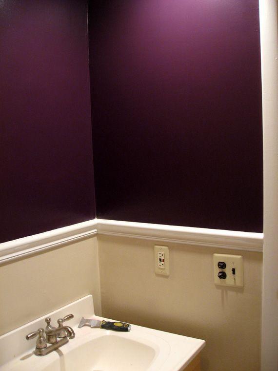 Brown Color Palette Living Room Dark Purple Wall Paint