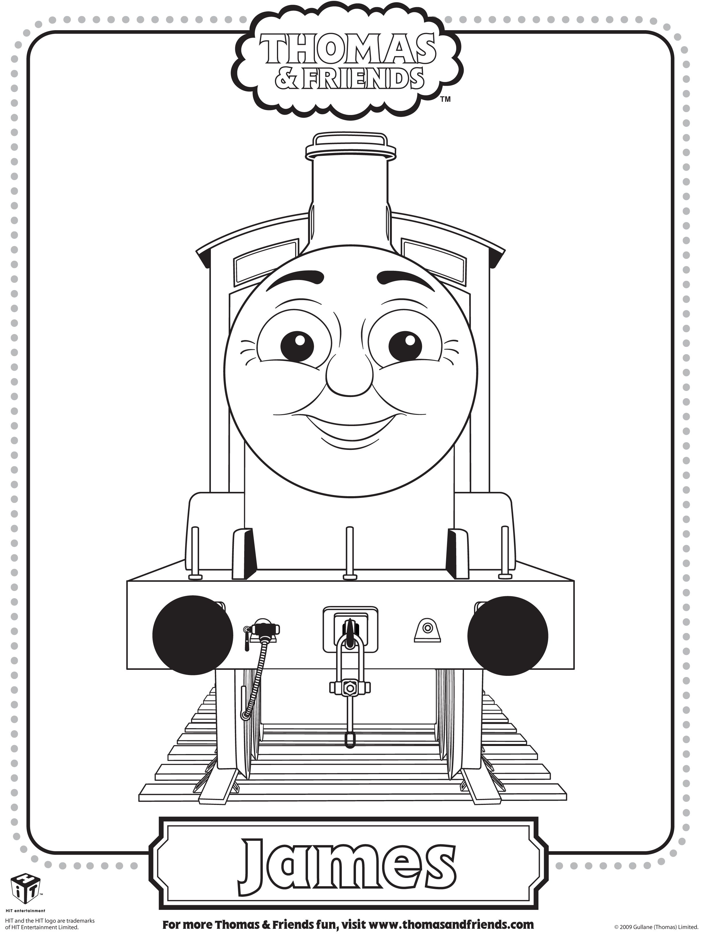 Colouring pages of james in thomas tank google search for Thomas the train color page