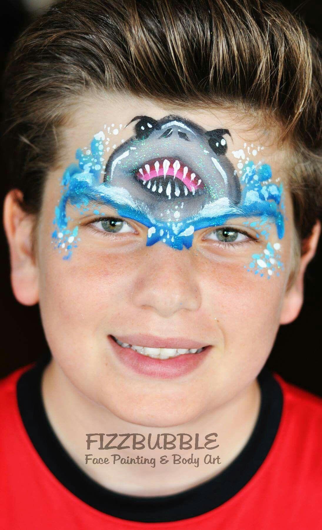Uncategorized Boy Face Painting Ideas jo bertram shark face painting design facepainting ideas kids design