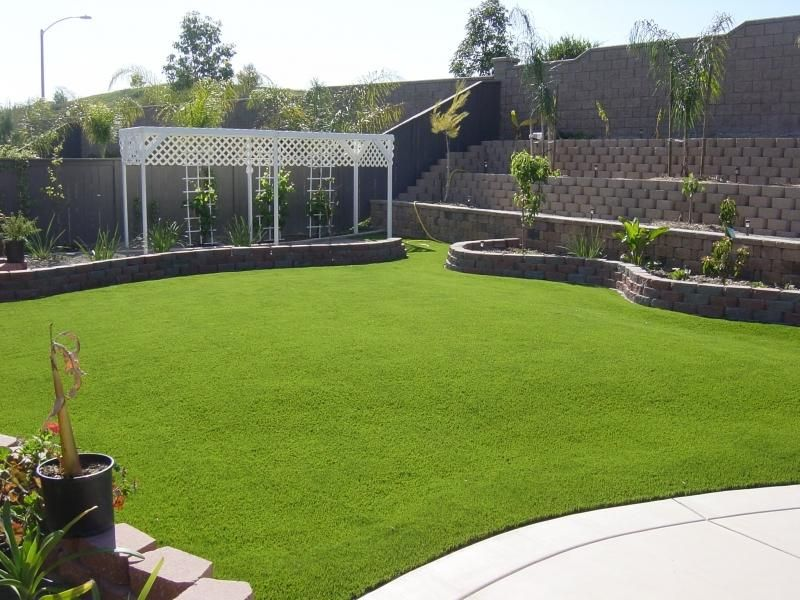 Easy Turf + Concrete (With images) | Turf backyard ... on Backyard Ideas Concrete And Grass id=90362