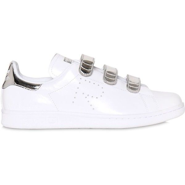 Adidas By Raf Simons Men Stan Smith Metallic \u0026 Leather Sneakers (\u20ac345) ?  liked on Polyvore featuring men\u0027s fashion, men\u0027s shoes, men\u0027s sneakers, mens  ...