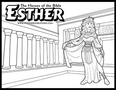 The Heroes of the Bible Coloring Pages: Esther | Coloring: Bible ...