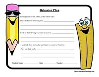 Student Behavior Plan Worksheet  Behavior Interventions Behavior