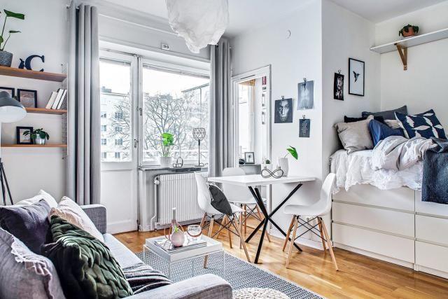 Beautiful Ikea Studio Apartment Design