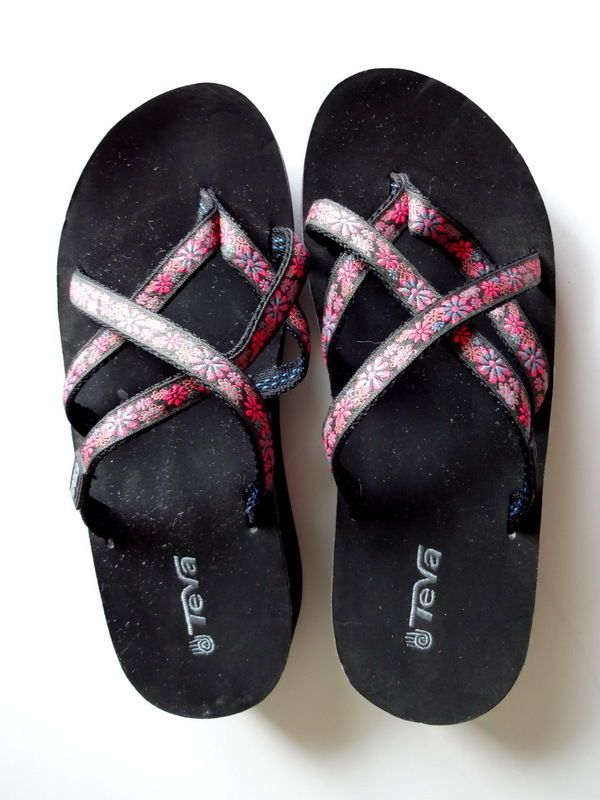 Womens Teva Mush Mandalyn Wedge Flip Flops Size 6 Summer -5805