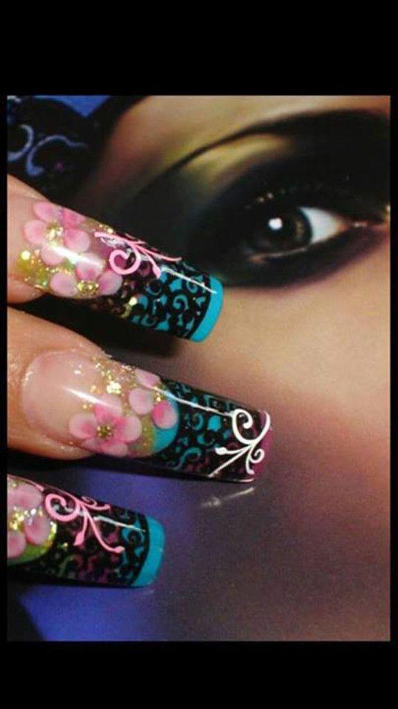 Floral Nails Designs | Floral, Nail nail and Makeup