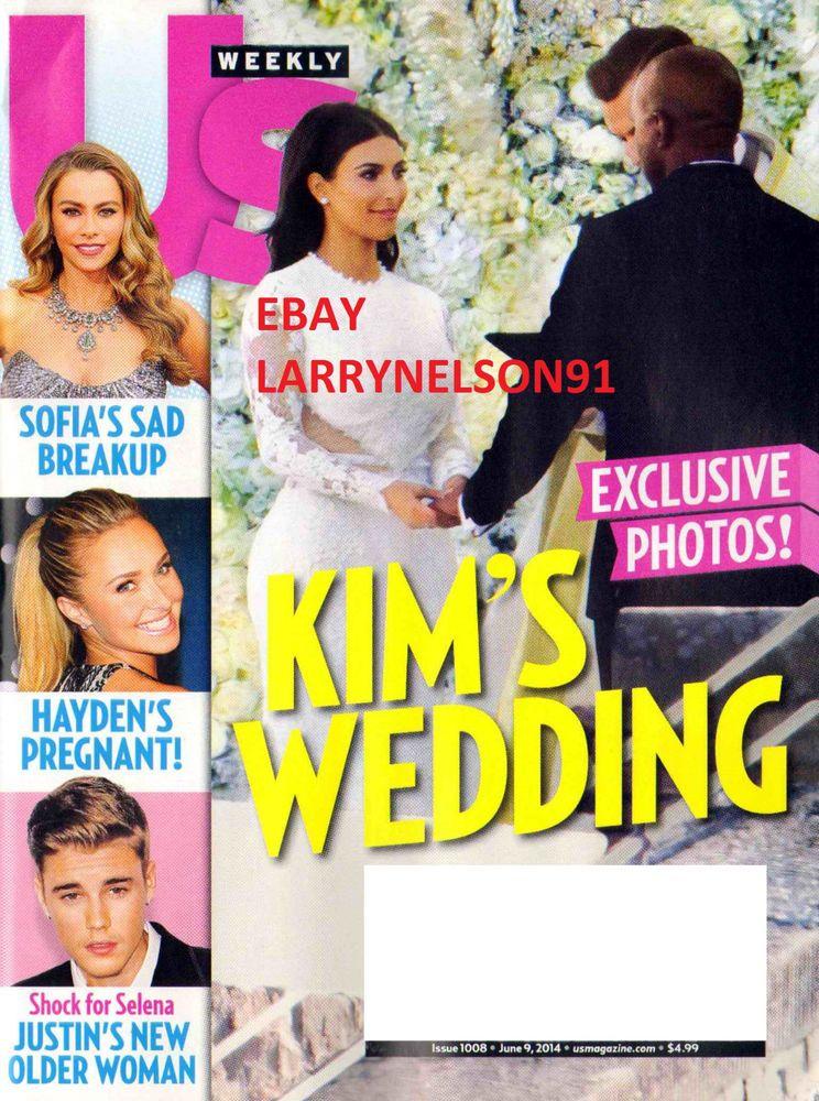 US WEEKLY MAGAZINE JUNE 9 2014 KIM KARDASHIAN WEDDING