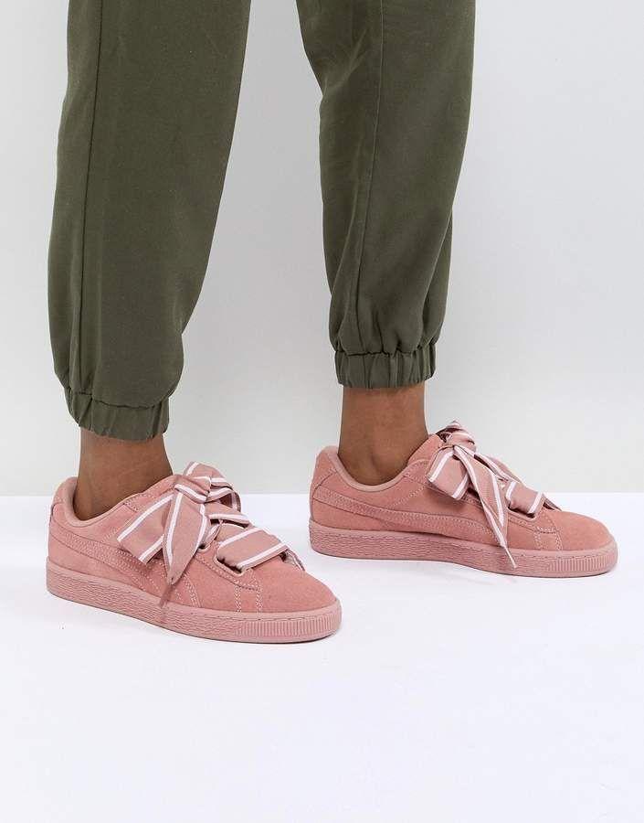 separation shoes f6851 5fb60 Puma Suede Heart Satin Sneaker | pisantes | Puma suede, Puma ...
