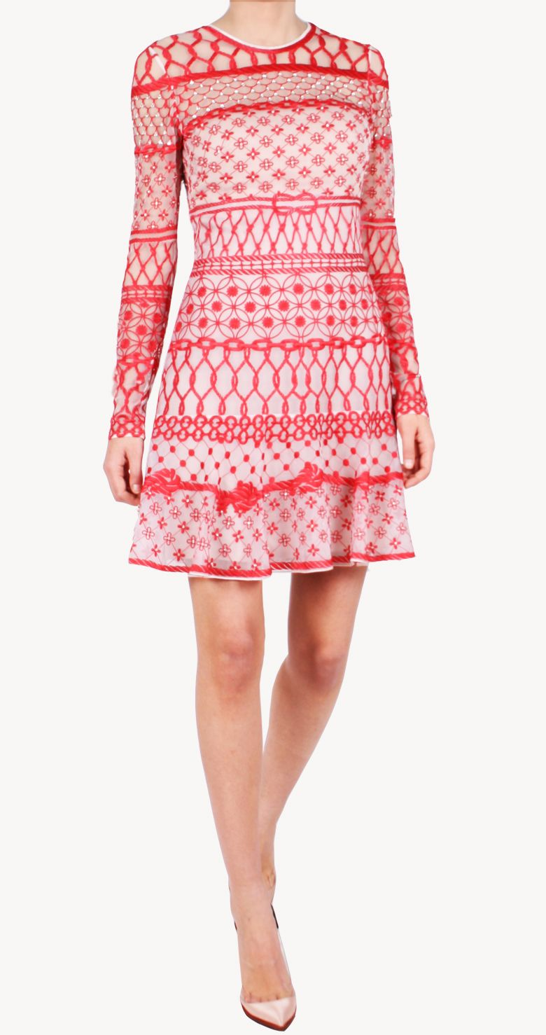 Alquiler Vestido rojo Minifishnet | Temperley London | 24FAB | 2434 ...