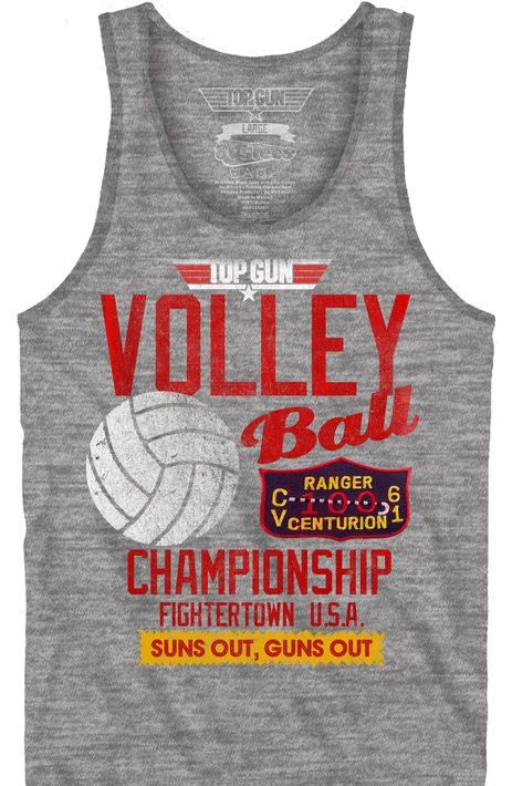 Top Gun Volleyball Championship Tank Top | New Mens T ... Top Gun Volleyball Shirt
