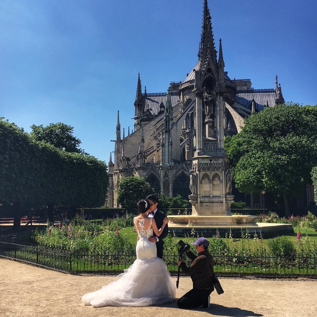 Parisfind — #BridesndGroom #photoshoot behind...