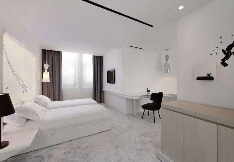 Schlafzimmer-Ideen-Weiss-Teppichboden-Schreibtischjpg (800×553 - schlafzimmer ideen modern