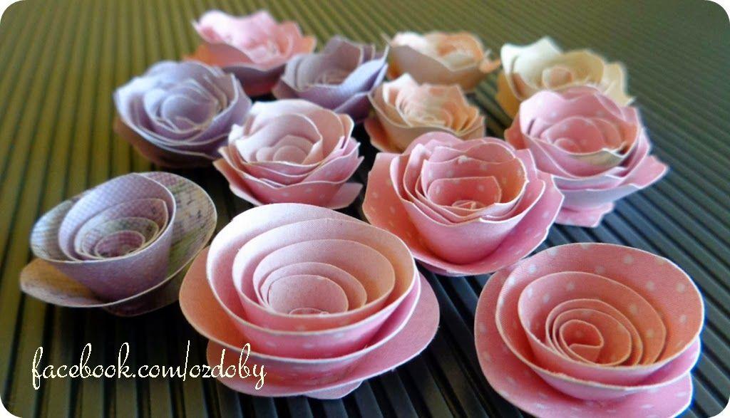 Rekodzielo Z Pasja Jak Zrobic Roze Z Papieru Mini Cupcakes Paper Art Origami