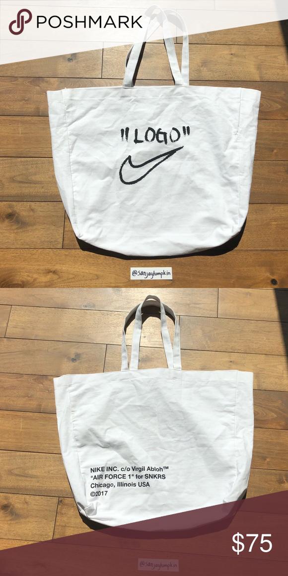 fecha de lanzamiento proporcionar un montón de bajo costo Nike x Off White: Virgil Abloh Tote Bag   Tote bag, Tote, Bags