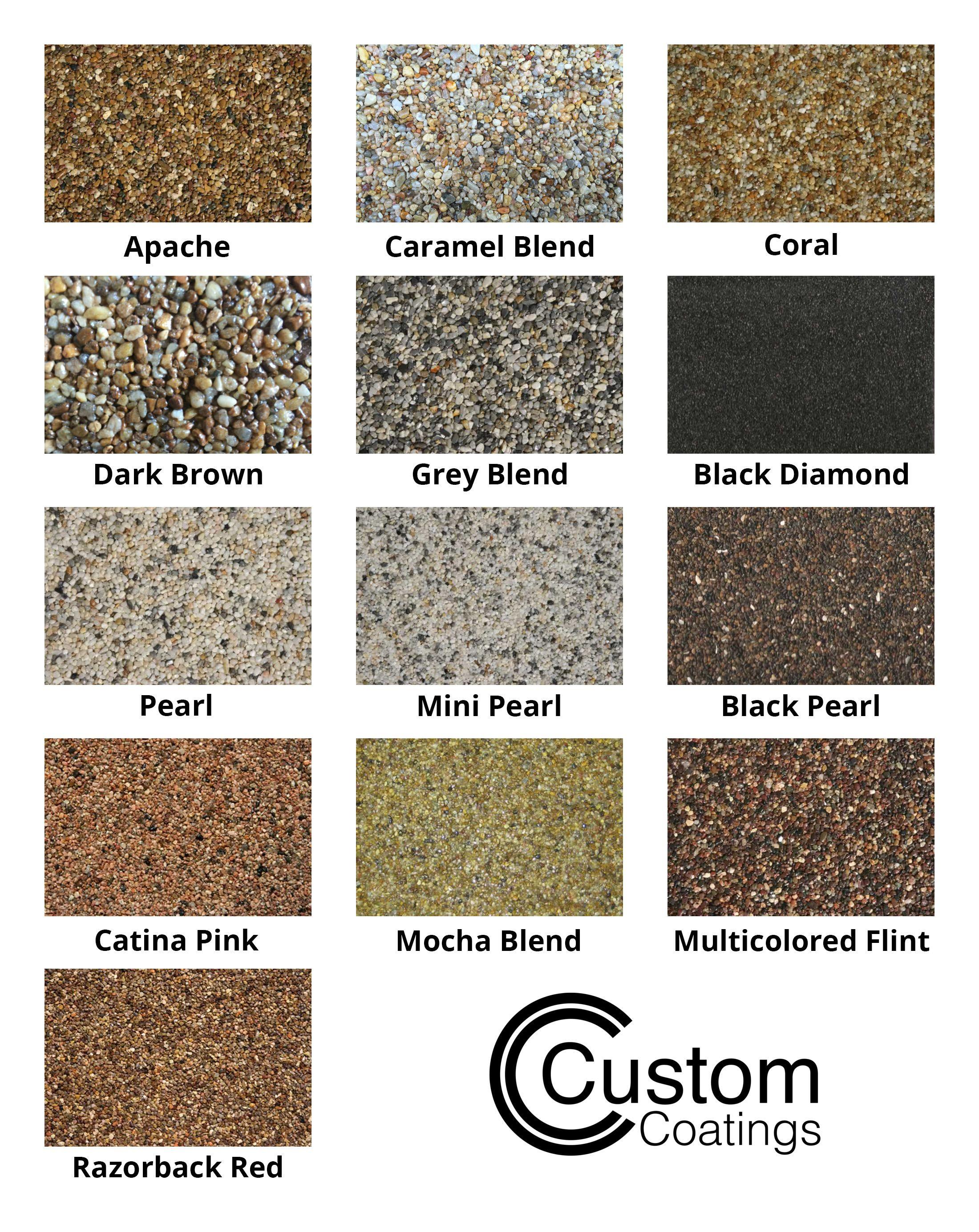 Epoxy Pebble Stone Color Chart Epoxy Floor Pebble Stone Concrete Floors