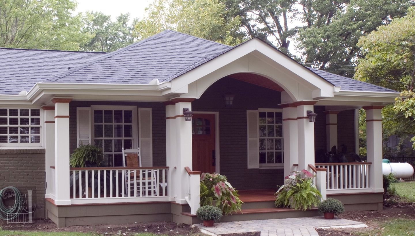 1 Resembles A Pyramid Gradually Flows Into The Walls Porch Roof Styles Front Porch Addition Front Porch Design