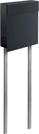 Briefkasten Stand frabox design standbriefkasten namur stahl lackiert mit edelstahl
