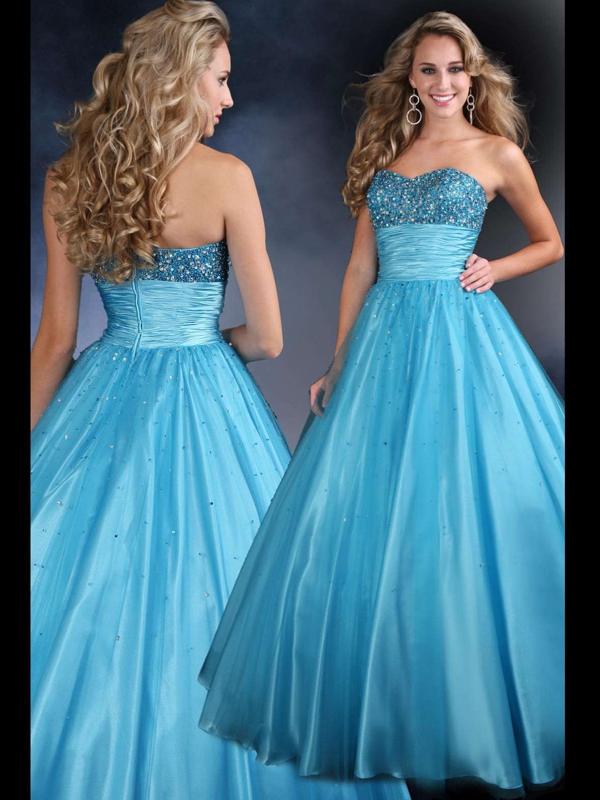 Heavenly tullecharmeuse ball gown sparkle by davinci prom uc