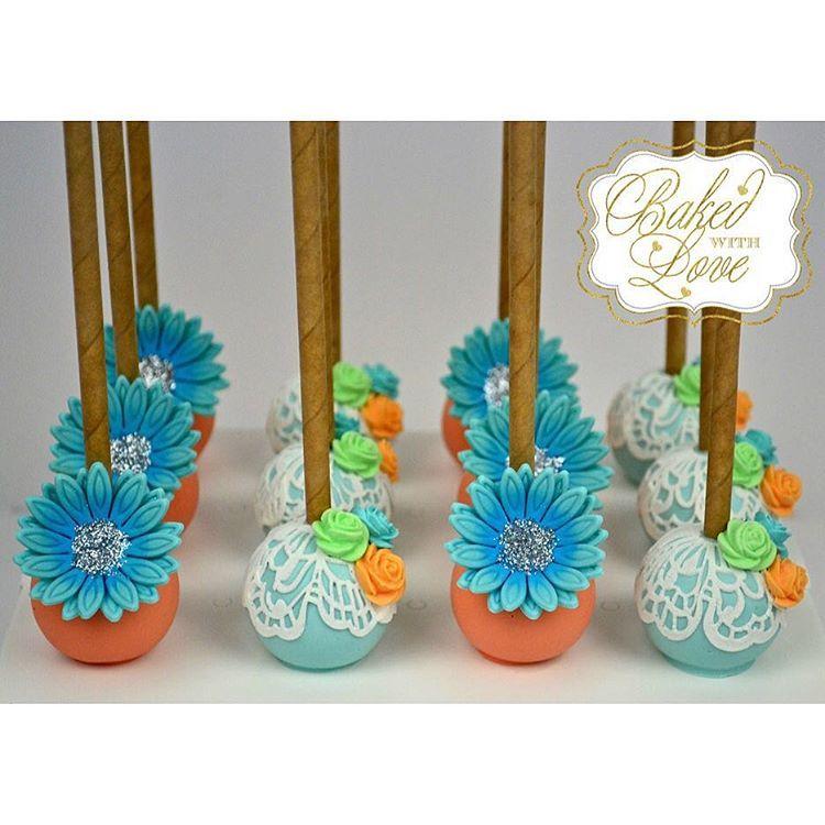 Garden themed cake pops Cake pops Truffles Pinterest
