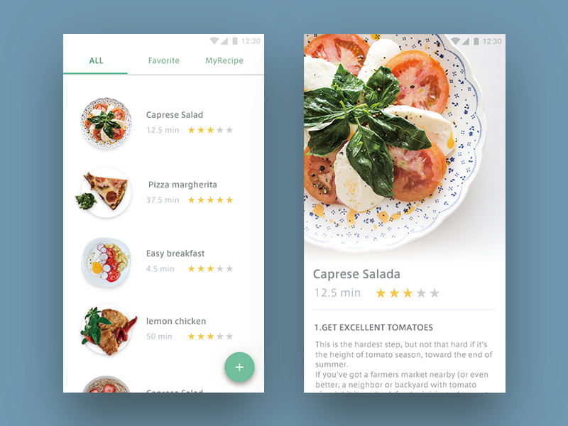 Day 040 - Recipe   UX Design   모바일 앱 디자인, 모바일